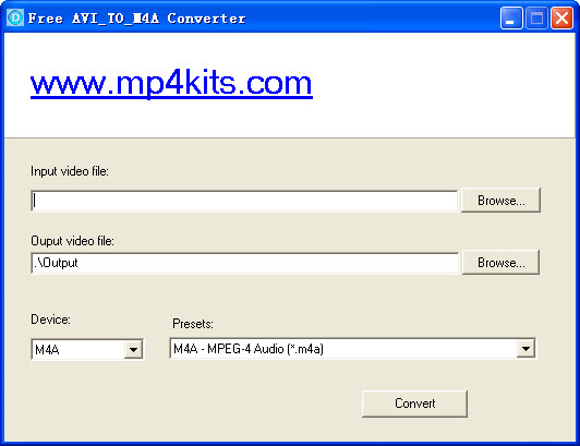 convert Audio Video Interleave(AVI) to Audio-only MPEG-4 files(m4a)